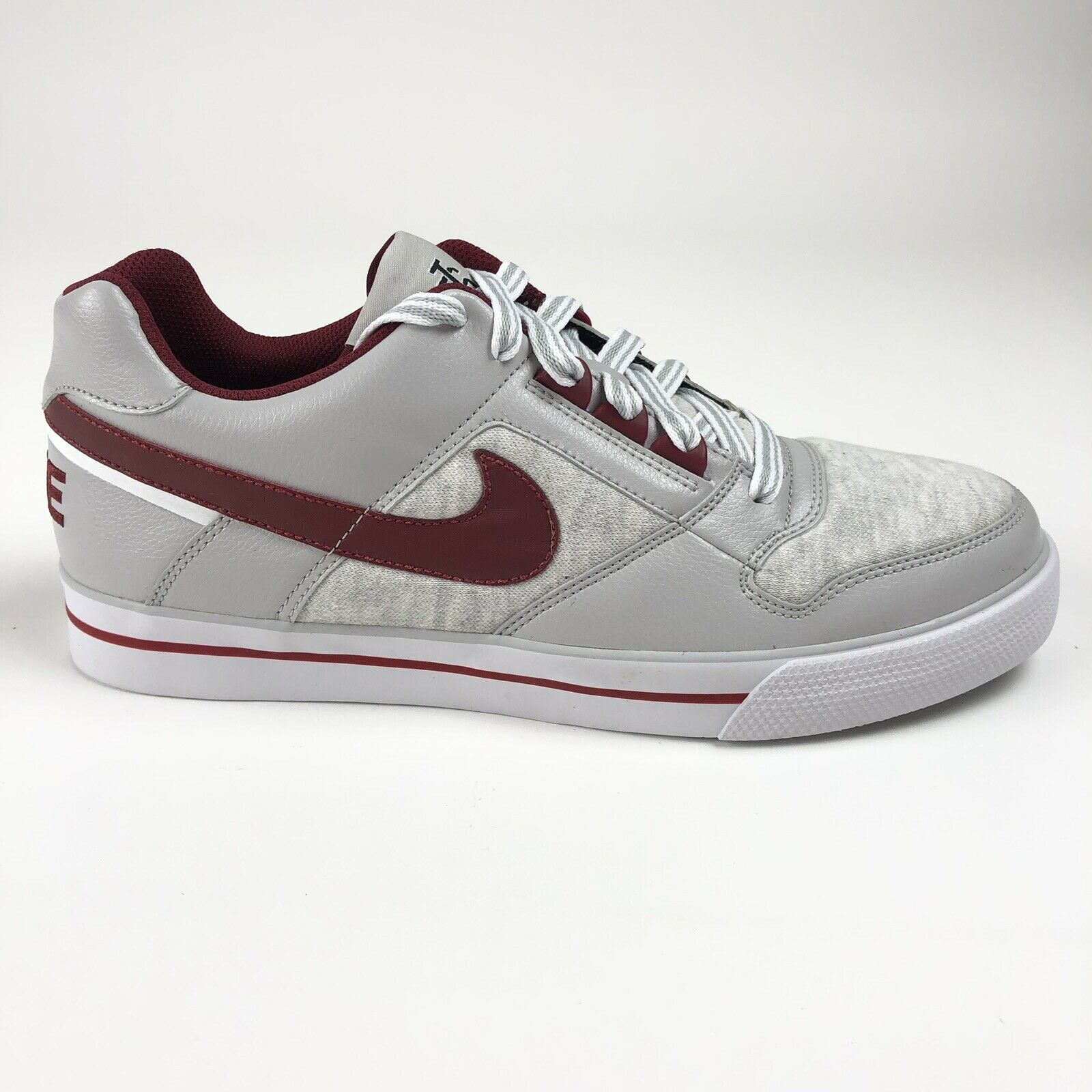 Nike Delta Force AC Mens 10 Low Top shoes White Team Red Neutral Grey 370543-101