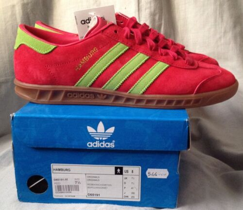 Uk Rare Vert 5 Adi 7 Rouge Colourway Deadstock Adidas Bnwbt Hambourg Et d8wzqdR
