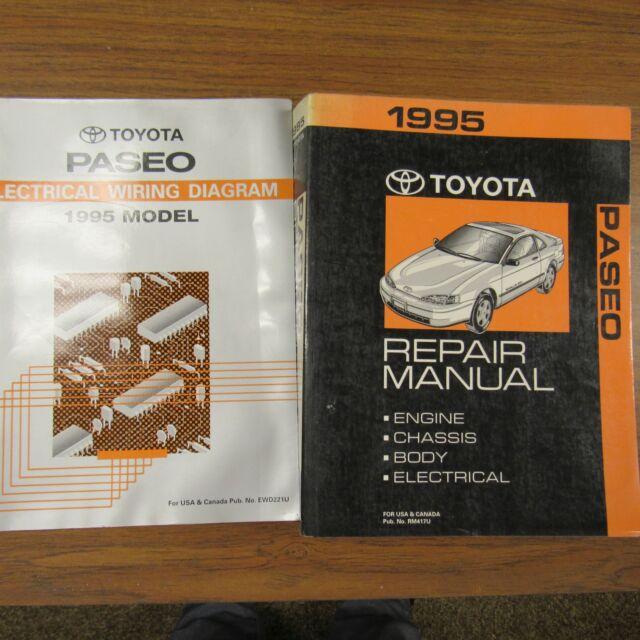 1995 toyota paseo service manuals 95 electrical repair diagrams original  factory