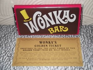 Details About Willy Wonka Chocolate Bar Gift With New Golden Ticket Inside Great Original Gift