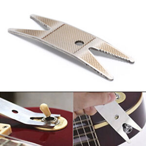 Guitar Fret Repairing Tool Set Edelstahl Protector Shims /& Schleifen Polnisch ZP