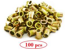 New 100 Piece Rivet Nut Rivnut Inserts Nutsert 516 Blind Rivets Steel Rivnut