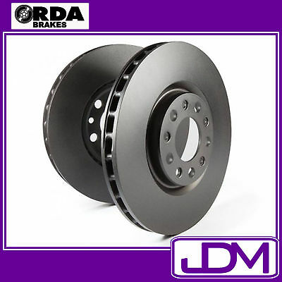 DIMPLED SLOTTED REAR DISC BRAKE ROTORS+H//D PADS for Ford Falcon BA XR6 Turbo XR8