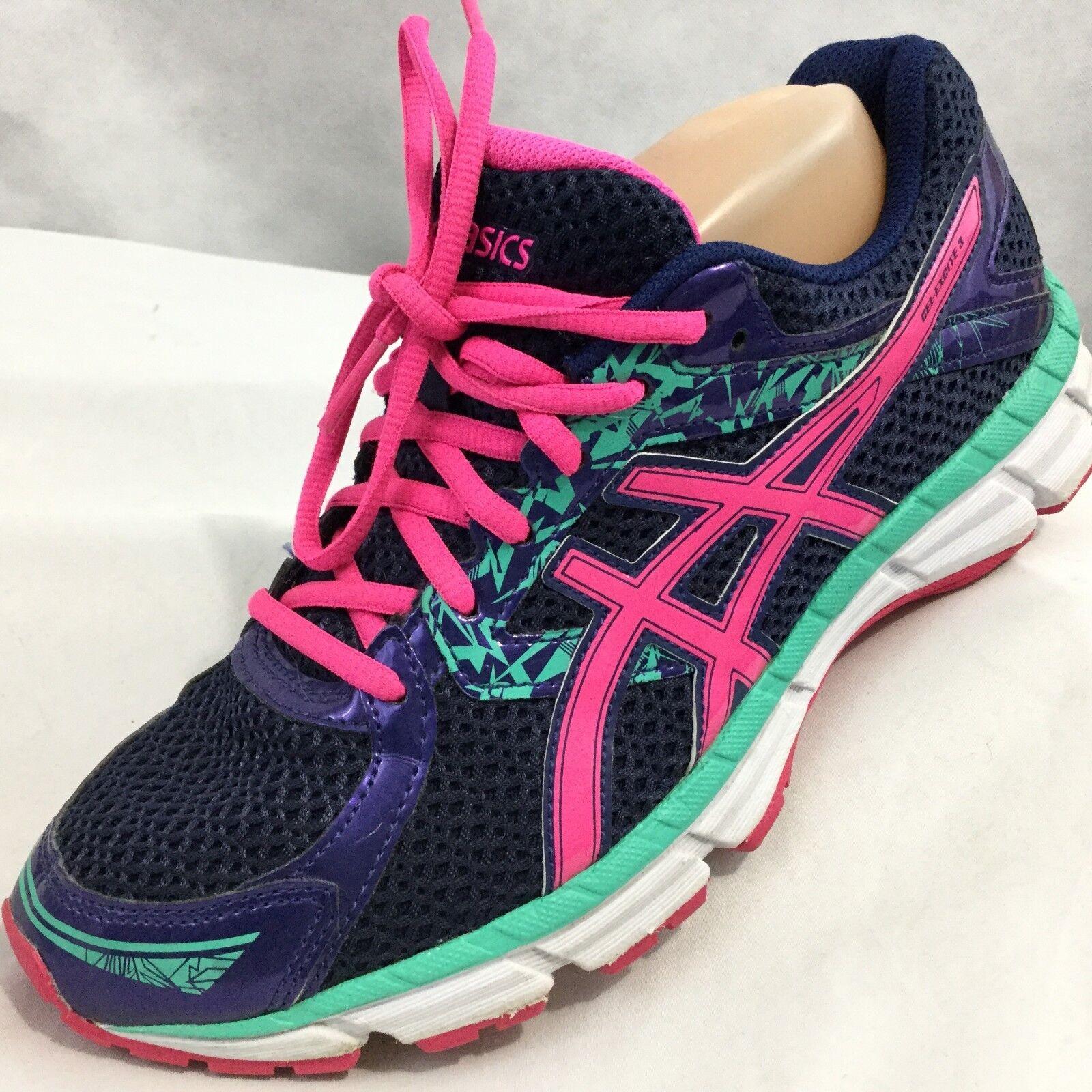 Asics Gel Excite 3 Running shoes Purple Aqua Pink Sz 7.5 Euro 39 Light Workout