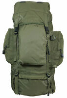 Olive 88l Army Recon Rucksack - Large Military Style Camping Hiking Backpack Bag