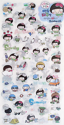 Big Head Girl Set of 6 Sticker Sheets (Series 1)~KAWAII!!