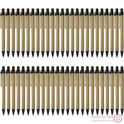 lot 50pcs black ECO friendly ballpoint pen @recycled