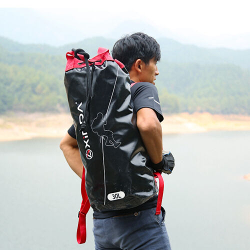 Rock Climbing Rope Bag Shoulder Backpack Carry Organizer Holder Container