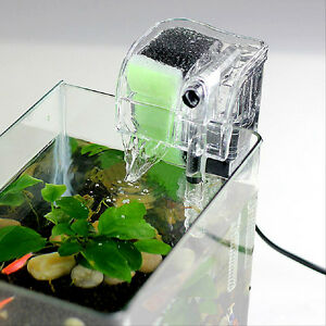 Mini-Aquarium-Power-Filter-Waterfall-Water-Pump-Fish-Tank-Hang-On-Slim ...