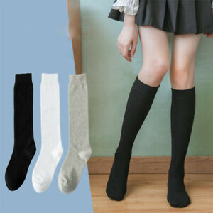 Stockings High Fashion Women's Over the Knee Thigh Cotton Socks Solid Color