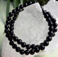 6 mm Shungite Bracelet Elite Shungite Bead Bracelet Stretchy Anti Radiation Heal