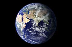 Encadree Imprimer Planete Terre Photo Poster Art Univers Espace