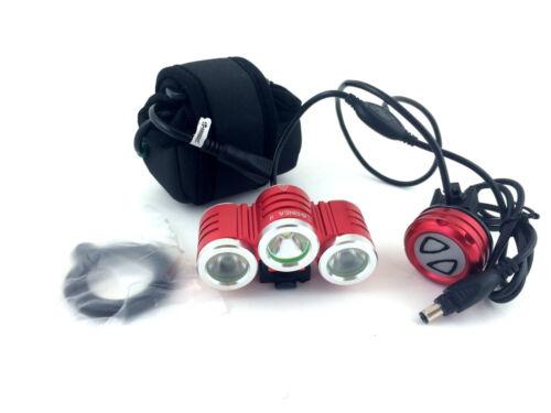 Xeccon Geinea II  2500 Lumens 3x Cree LED Bike light with 5.2Ah Samsung Battery