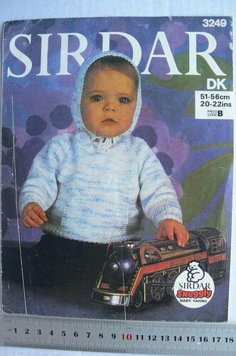 3 Book Choice B31 Jackets /& Jumpers DK 8 Ply BABY Knitting SIRDAR 261 /& 3249