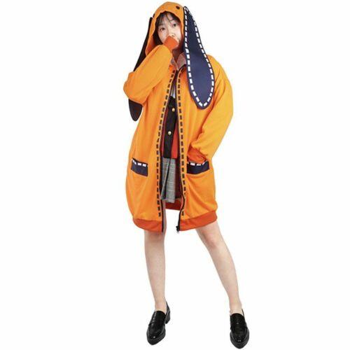 Kakegurui Compulsive Gambler Runa Yomozuki Outfit Coat Cosplay Costume uniform