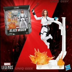 Black-Widow-Deluxe-Marvel-Legends-White-Costume-Action-Figure-w-Stand-IN-STOCK