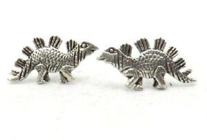 Ohrstecker-Dino-Dinosaurier-Stegosaurus-Paar-925-Sterling-Silber-Schmuck-Neu