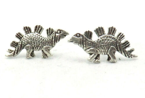 Ohrstecker Dino Dinosaurier Stegosaurus Paar 925 Sterling Silber Schmuck Neu