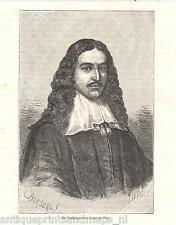 antique print Johan de Witt portrait portret houtgravure holzstich