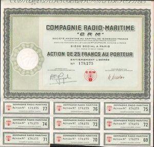 """C Compagnie RADIO-MARITIME /""""CRM/"""""""