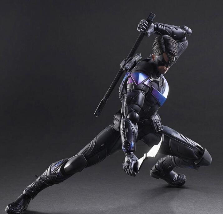 DC Comics Play Arts Kai Arkham Knight Nightwing Hero Action Figure Statue Toy