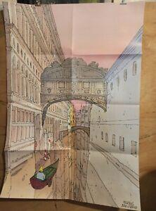 Affiche-Moebius-Jean-Giraud-Venise-Celeste-98-5x68-cm-pliee-en-8