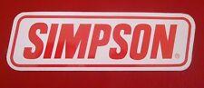 Vintage SIMPSON NASCAR Racecar Decal Sticker SIMPSON Race Helmets & Uniforms