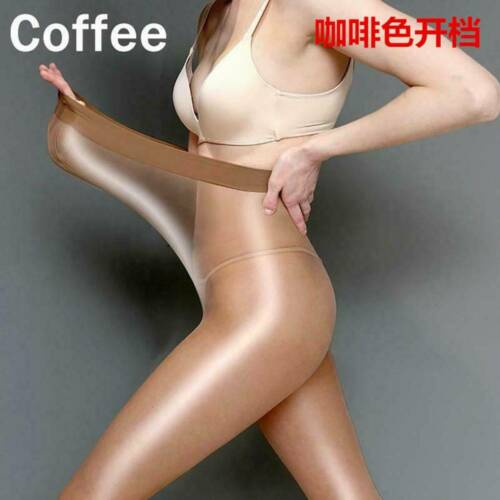 8D Women Shiny Sheer Tights Pantyhose Crotch//Crotchless Smoothly Body Stockings
