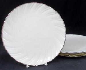 Lenox-China-WEATHERLY-4-Salad-Plates-Cream-D517-GREAT-CONDITION