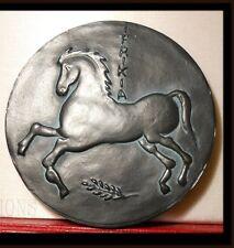 """RARE MEDAILLE ARTISTIQUE BRONZE """" L'ALGERIE DE TOUJOURS """" CHEVAL HORSE"""