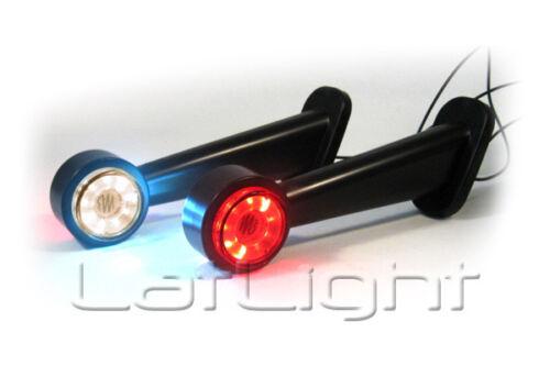 2 Stück LED Klarglas Umrissleuchten LKW Begrenzungsleuchte Trailer 12 24 Volt