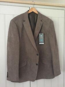 BNWT-MENS-M-amp-S-Collection-Suedette-Button-Smart-Blazer-Jacket-46-034-Medium-length
