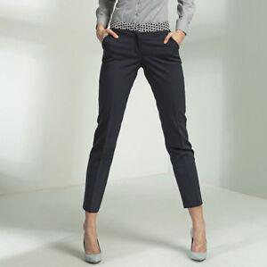 Pantalon-7-8-femme-habille-de-tailleur-bleu-sSD13-NIFE-Taille-L-40-FR-42