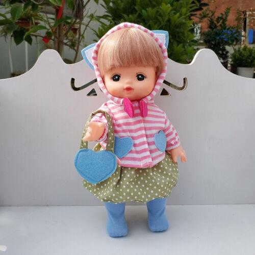 Abito da 5 pezzi per Mellchan Baby Doll 9-11inch Reborn Girl Baby Doll
