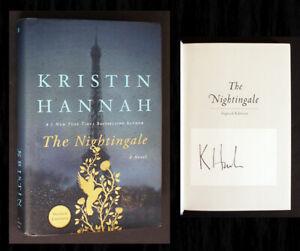 SIGNED, THE NIGHTINGALE by Kristin Hannah 1st Ed (Elle and Dakota Fanning film)!