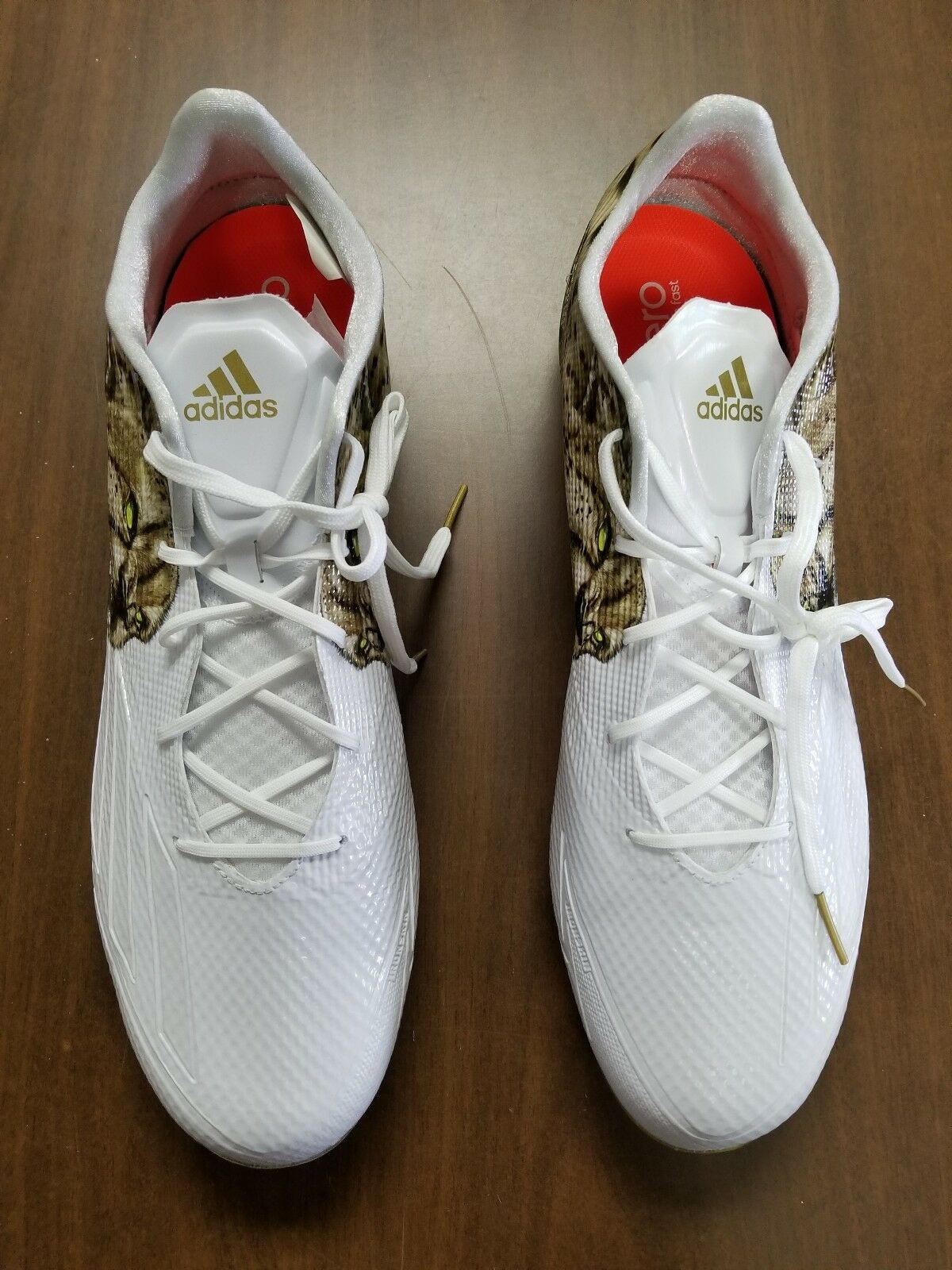 ADIDAS ADIZERO 5 STAR 5.0 CHEETAH UNCAGED FOOTBALL SHOES SIZE 16 - NEW WITH BOX