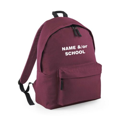 PERSONALISED SCHOOL BACKPACK RUCKSACK GIRL/'S KID/'S CHILD YOUR CHILDREN/'S NAME