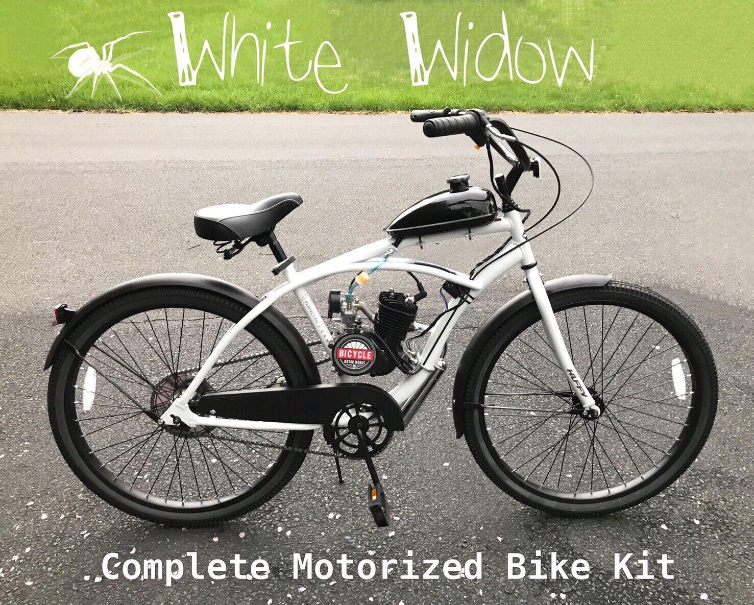 White Widow  - Motorized 66cc Engine & Cruiser Bicycle KIT - Build Yourself