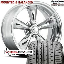17 Inch Polished Torq Thrust Wheels Tires 5lug Ford Mustang 1965 1966 1967 1968