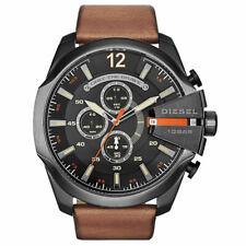 DIESEL DZ4343 Mega Chief Black Dial Brown Leather Men's Watch