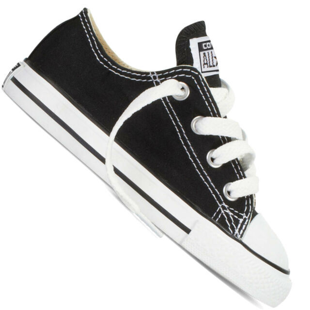 39272665104432 Converse All Star Ox Toddler Chucks Baby Shoes Trainers Shoes Black 7j235 US  4
