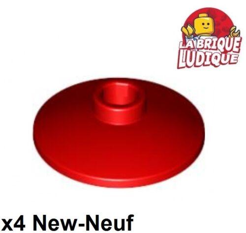 Lego 4x Dish disque radar 2x2 rouge//red 4740 NEUF