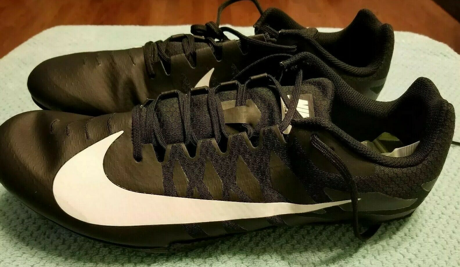 Nike Zoom Rival S 9 Track Sprint Spikes 907564-001 Blk white Size 15 new
