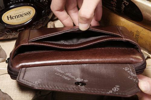Fanny Waist Pack Men Genuine Leather 6.0//6.5 inch Cell Phone Case Purse Belt Bag