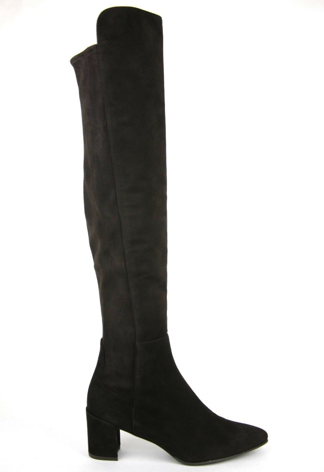 765 New Stuart Weitzman Dark Brown Cola Suede Allwayhunk Over-The-Knee Boot