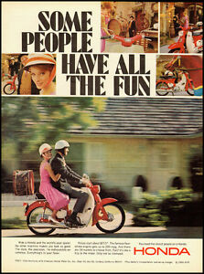 Image Is Loading 1966 Vintage Ad For HONDA Motorcycle Couple Riding