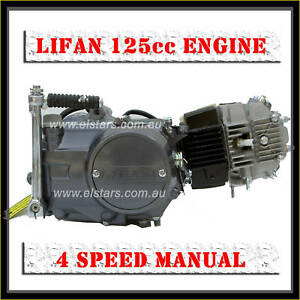 Details about Lifan 125cc 1P52FMI air cooled engine 4 speed Type K