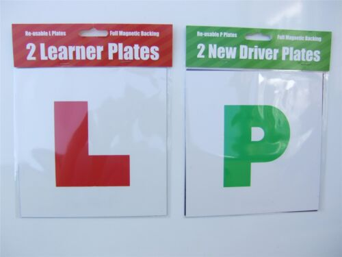2 Learner /& 2 New driver plates with full magnetic backing