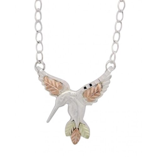 Black Hills Gold .925 Sterling Silver Hummingbird Necklace