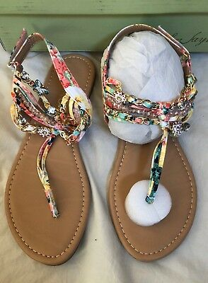 Sarah Jayne Peach Shore Sandals Size 5m 280 Ebay